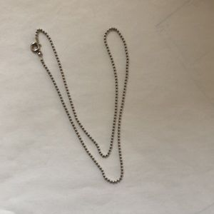 """Sterling silver tiny bead (1.1mm) 16"""" chain"""